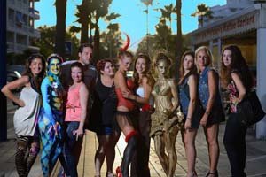 Blackberry Cafe Fuengirola Body Painting